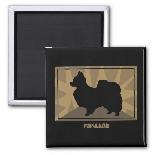 Earthy Papillon Gifts 2 Inch Square Magnet