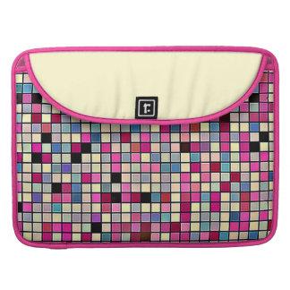 Earthy Pastels Square Tiles Pattern MacBook Pro Sleeve