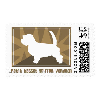 Earthy Petit Basset Griffon Vendeen Postage Stamps