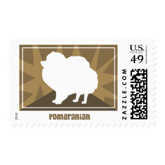 Earthy Pomeranian Postage Stamps
