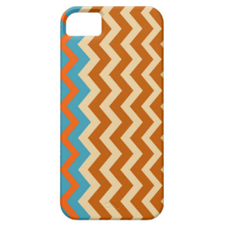 Earthy Pottery Zigzags With Blue Border iPhone SE/5/5s Case