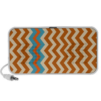 Earthy Pottery Zigzags With Blue Border iPod Speakers