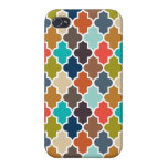 Earthy Quatrefoil iPhone 4/4S Cover