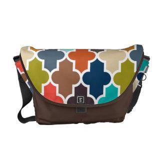 Earthy Quatrefoil Messenger Bags