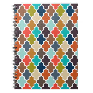 Earthy Quatrefoil Notebook