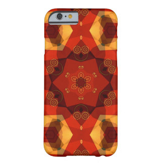 earthy red, brown and yellow enamel like geometric barely there iPhone 6 case