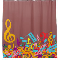 Earthy Red brown Marsala mixed musical notes