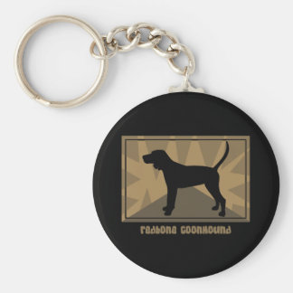 Earthy Redbone Coonhound Keychain