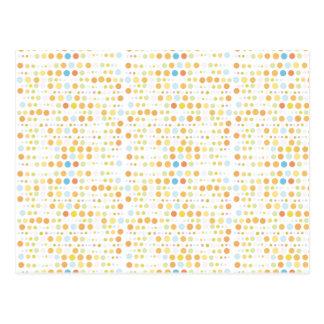 Earthy Retro Dots Postcard