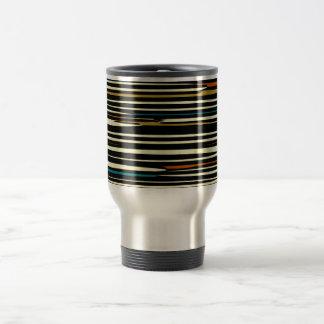 Earthy Retro Stripes>Handy Travel Mug