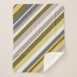 "[ Thumbnail: ""Earthy"", Rustic-Like Stripes Pattern Blanket ]"