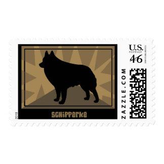 Earthy Schipperke Postage Stamps