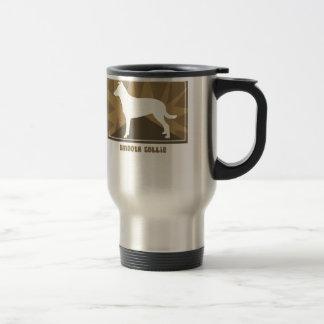 Earthy Smooth Collie 15 Oz Stainless Steel Travel Mug