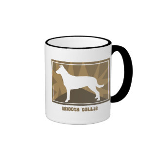 Earthy Smooth Collie Ringer Coffee Mug