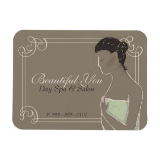 Earthy Spa Advertisement Magnet with Pastel Woman