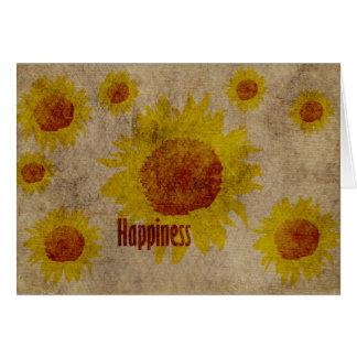 Earthy Sunflowers Happiness Card