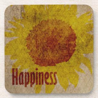Earthy Sunflowers Happiness Coaster