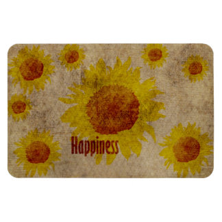 Earthy Sunflowers Happiness Magnet