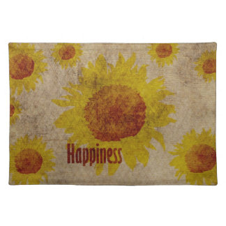 Earthy Sunflowers Happiness Placemat