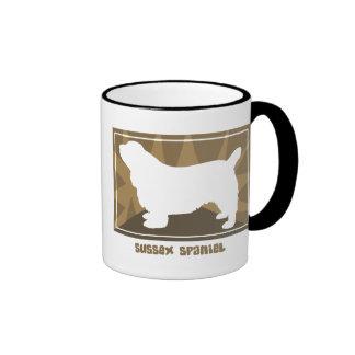 Earthy Sussex Spaniel Ringer Coffee Mug