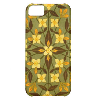 Earthy Teal Floral Textile Cover For iPhone 5C