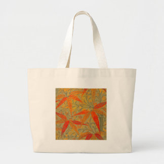Earthy Tone Bamboo Art Print Nouveau Decor Large Tote Bag