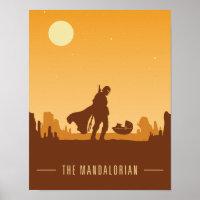 Earthy Tones Mandalorian Desert Poster