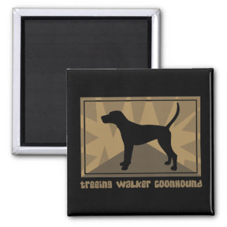 Earthy Treeing Walker Coonhound 2 Inch Square Magnet