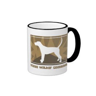 Earthy Treeing Walker Coonhound Ringer Coffee Mug