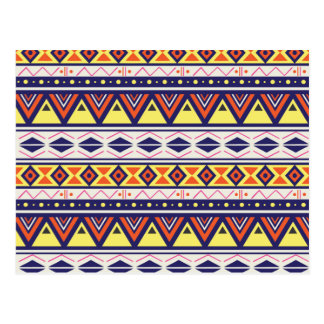 Earthy Tribal Border Pattern Postcard