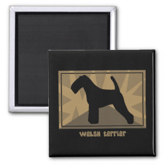 Earthy Welsh Terrier 2 Inch Square Magnet