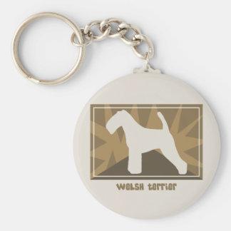 Earthy Welsh Terrier Keychain