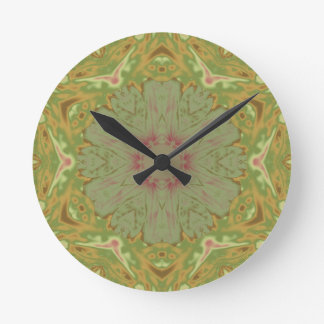 Earthy Winecup Round Clock
