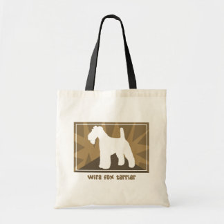 Earthy Wire Fox Terrier Budget Tote Bag