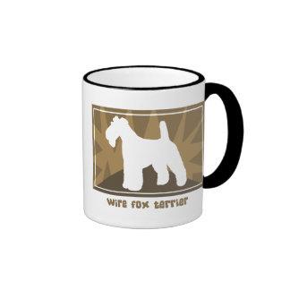 Earthy Wire Fox Terrier Coffee Mug