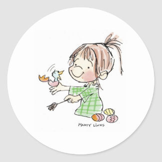 EAS-002 Easter Surprise Classic Round Sticker