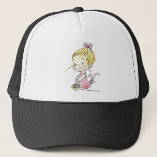 EAS-005 Easter Girl & Bunny Trucker Hat