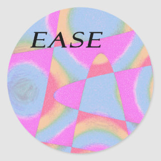 ease abstract round sticker