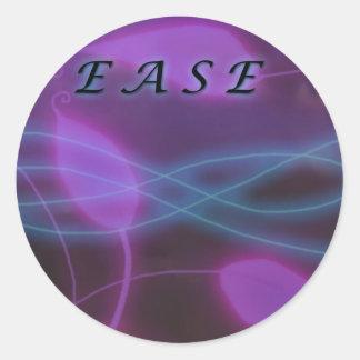 Ease Purple round sticker