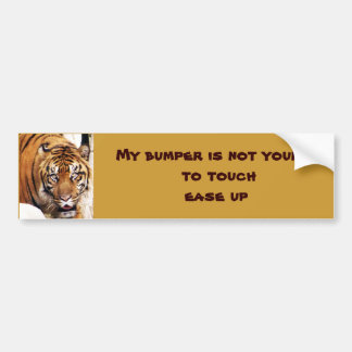 Ease Up on my Bumper_ Bumper Sticker