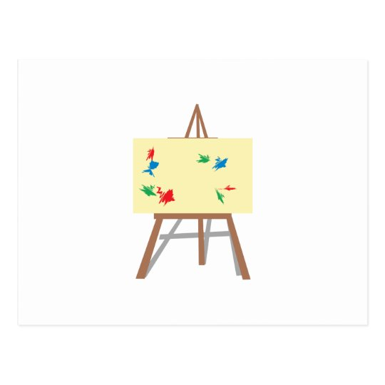 easel and painting postcard zazzle com