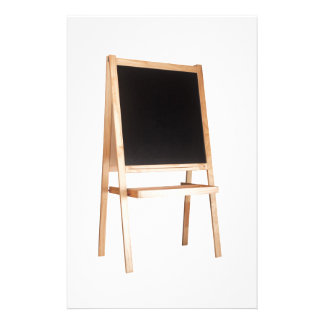 Easel with chalkboard stationery