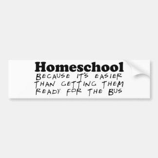 Easier Than the Bus Car Bumper Sticker