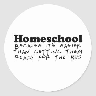 Easier Than the Bus Stickers