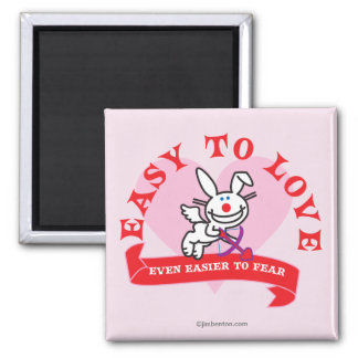 Easier To Fear 2 Inch Square Magnet