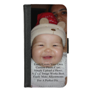 Easily Add Your Photo For a Personalized Custom iPhone 8/7 Wallet Case