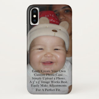 Easily Add Your Photo For a Personalized Custom iPhone X Case