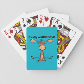 "Easily A'Moose""d Playing Cards"