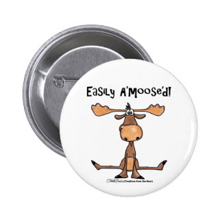Easily Amoosed! Pinback Button