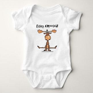 Easily Amoosed!-Sitting Moose Baby Bodysuit